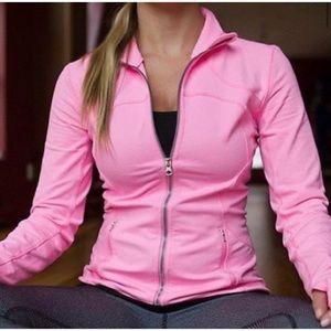 Rare-Lululemon Forme Hot Pink Zip Up Jacket Size 8